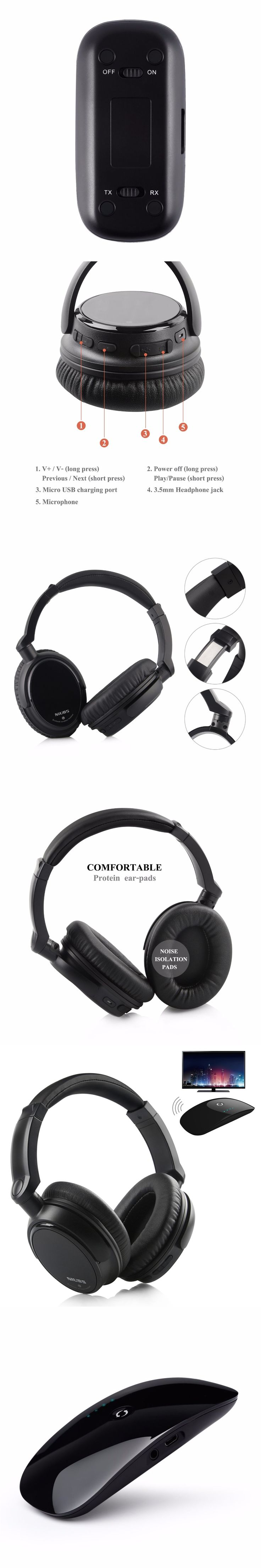 2016 New Bluetooth Headphone NiUB5 BT6 Wired & Wireless HiFi Headset with Microphone for Mobile Phone fone de ouvido bluetooth