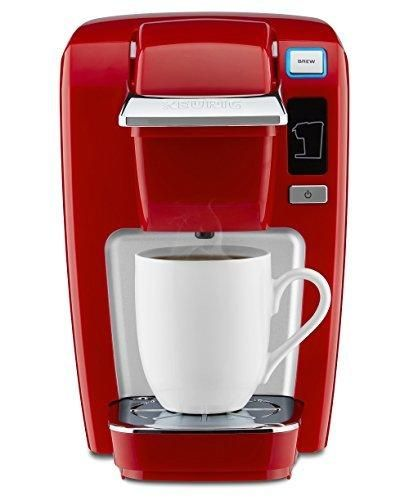 Keurig K15 Single Serve Compact K-Cup Pod Coffee Maker Chili Red