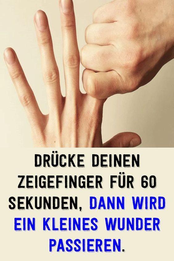 Drücke deinen zeigefinger für 60 sekunden, dann wird ein kleines wunder passie… – Nici Sander