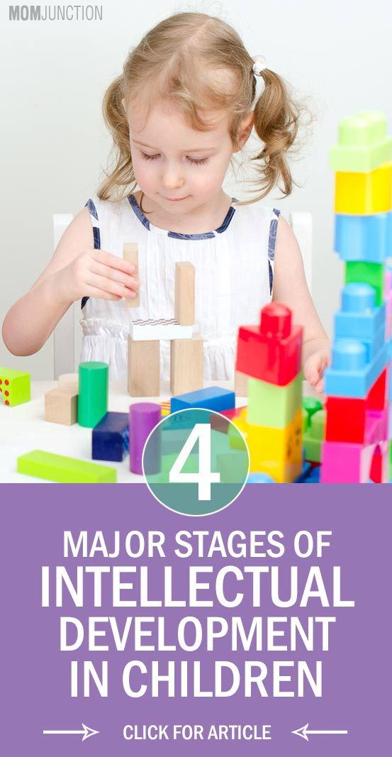4 Major Stages of Intellectual Development In Children: There are four distinct stages of cognitive development that have been specified by Piaget, stated below.