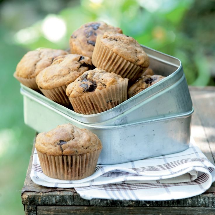 Špaldové muffiny s čokoládou a ořechy