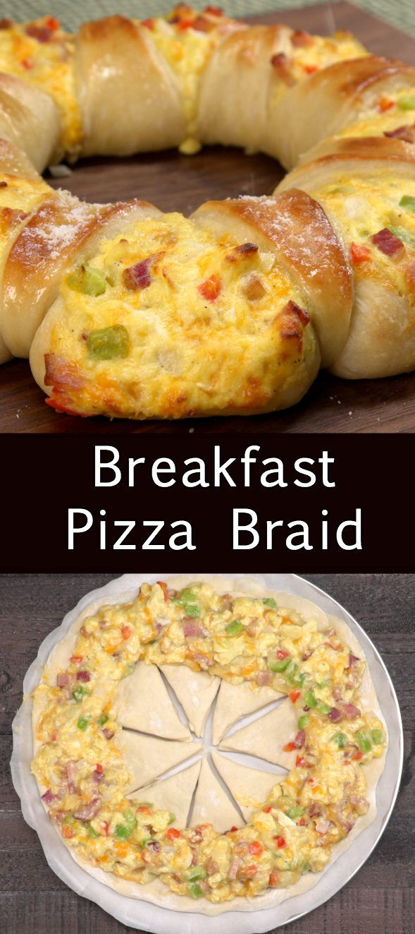 Breakfast Pizza Braid | tiphero.com