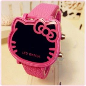 JAM TANGAN LED DIGITAL HELLO KITTY