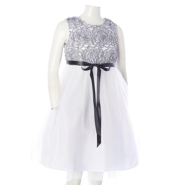 Gingham Soutache Dress (7-16)