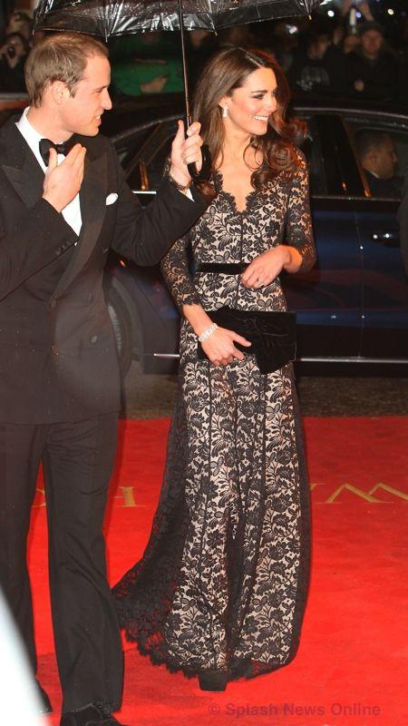 The Duke & Duchess Of Cambridge Prince William & Kate Middleton arriving at The UK Film Premier Of 'The War Horse' Whatkatewore.com