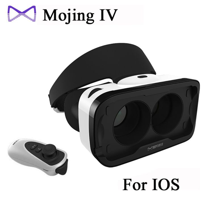 Baofeng Mojing IV Virtual Reality Headset 3D Glasses with Remote Controller for iOS iPhone White & Black - Tmart  #smartphones #cellphones #mobile #android #accessories #vr