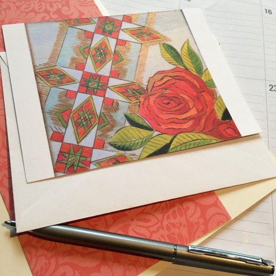 Linen Finish Flat Note Card/Ukrainian Note by atelierJADELZODOR