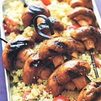 Grilled Mushroom Kabobs and Couscous Salad by Food & Wine