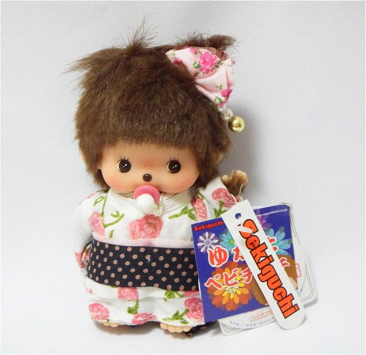 Bebichhichi 293950 - Bebichhichi Summer Yukata Girl. Authentic Bebichhichi doll from Sekiguchi. About 14cm. Suitable for child aged 6 years old and above. Ideal Birthday gift, Valentine's Day gift, Christmas gift, New Year gift, Children's Day gift and Housewarming gift! A favourite for Monchhichi & Bebichhichi doll collectors too!