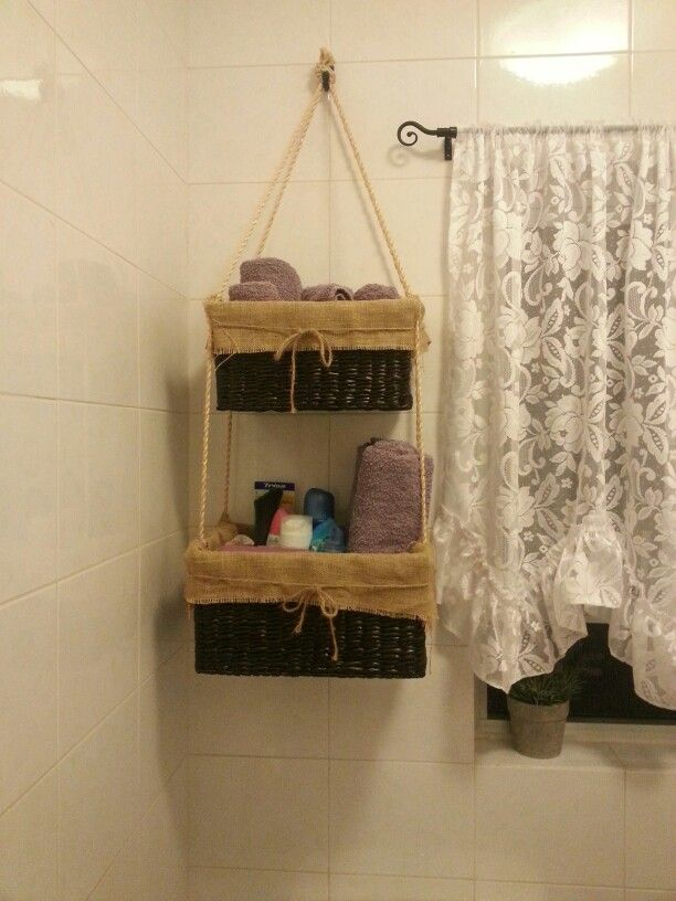 34 best images about bathroom ideas on pinterest towel storage small bathroom storage and Storage solutions for tiny bathrooms