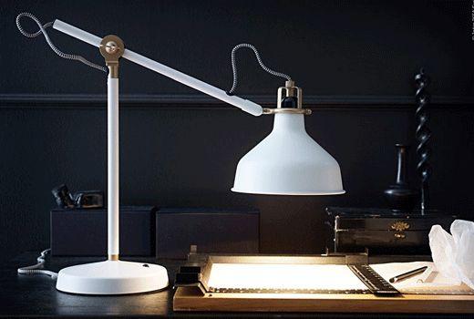 IKEA Schreibtischlampen und Schreibtischleuchten wie z. B. RANARP in weiß