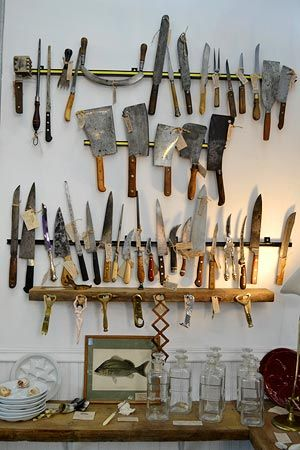 Knives | Love this.  Now that's a serious cook right there!