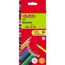 Herlitz 12 darabos háromszög alakú színes ceruza készlet - Színes ceruzák…