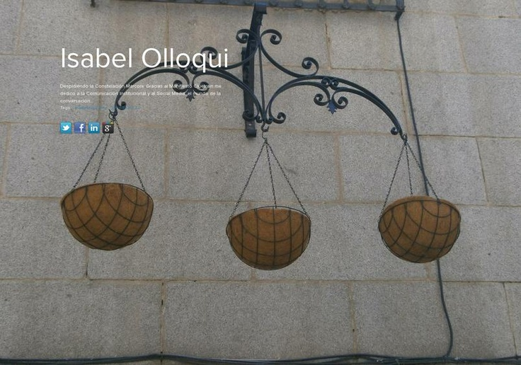 Isabel Olloqui's page on about.me – http://about.me/iolloqui
