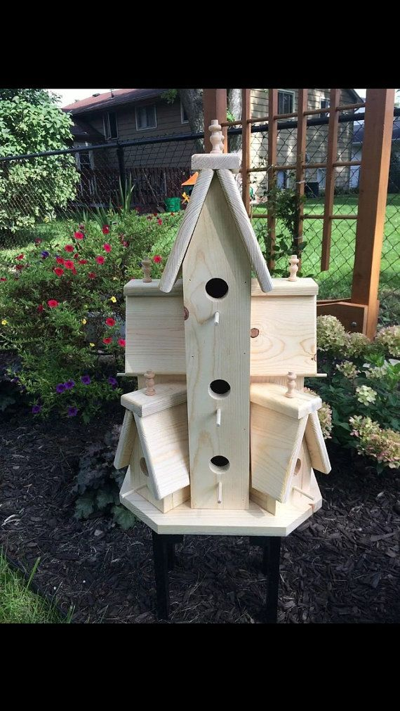 Beautiful XTRA Large Handcrafted Wooden Bird House