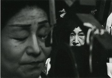 "Shomei Tomatsu, Untitled, from the series ""Chindon, Tokyo"", 1961. Gelatin silver print, printed 1970 21,2 x 32 cm"