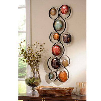 metallic bubbles i metal wall plaque - Bedroom Wall Plaques