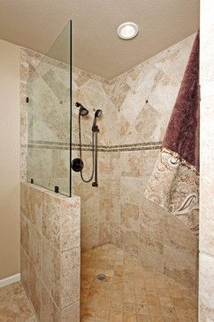 Traditional Bathroom Design Ideas Pictures Remodel And Decor Page 445 Shower Designsbathroom Designsbathroom Ideasshower No Doorsstand Up