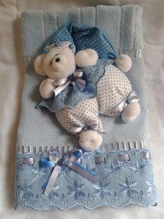toalha de boca com ursinho para bebe