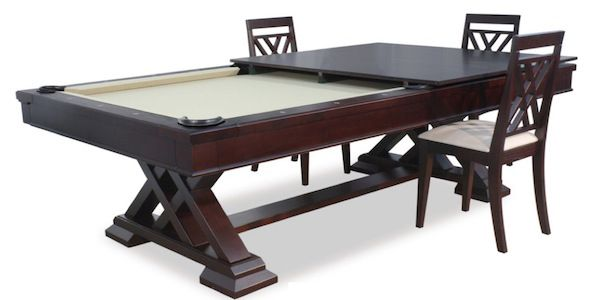 Robs Gamingkitchen Table The Wood Whisperer Pertaining To Gaming Dining Table Ideas. Pool Party Dinner Amp Other Convertible ...