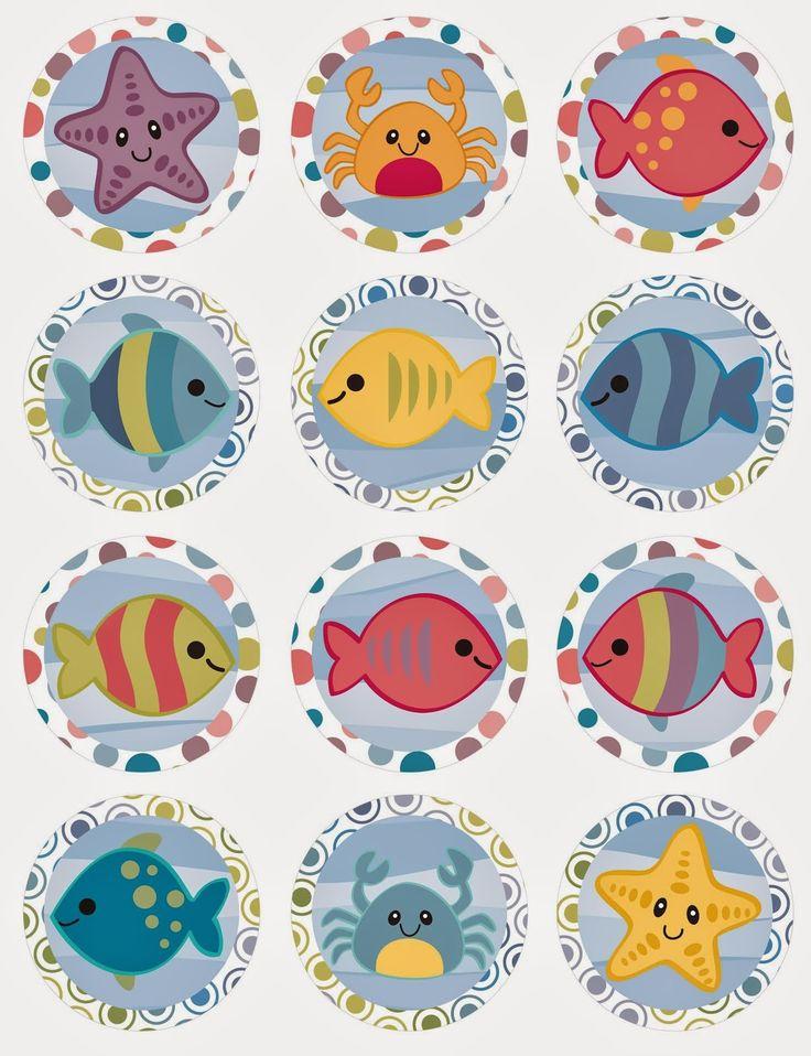 Bajo el Mar: Mini Kit para Imprimir Gratis. - Ideas y material gratis para fiestas y celebraciones Oh My Fiesta!