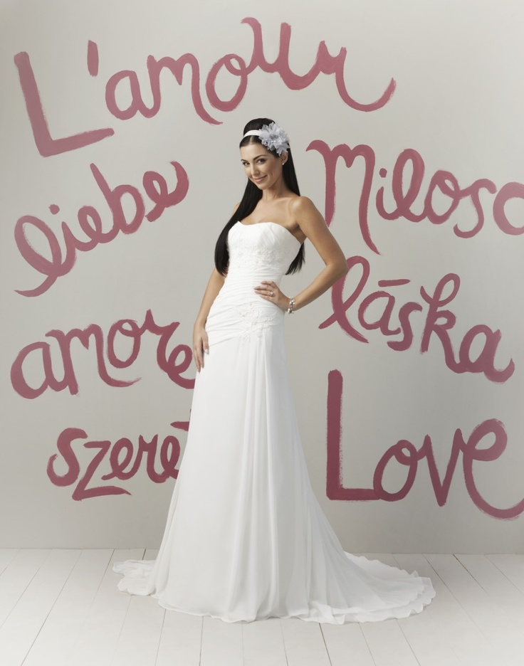Strapless Sweetheart Embroidered Bodice A-line Wedding Dress