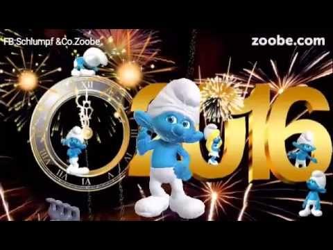 Frohes neues Jahr 2016Zoobe deutsch Schlumpf