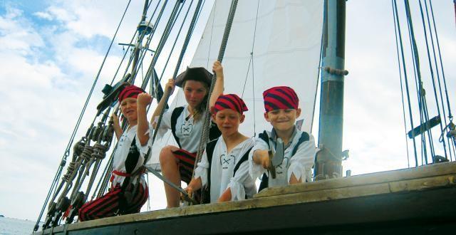 Saint Quay Portrieux, Balade nautique pirate sur vieux gréement