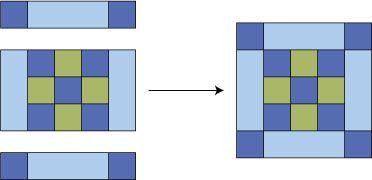 Stitch a batch of my easy Framed Nine Patch quilt blocks.: Assemble the Framed Nine Patch Quilt Block