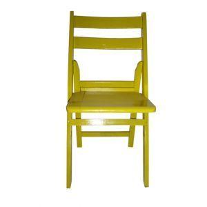 Chaise Pliable Jaune