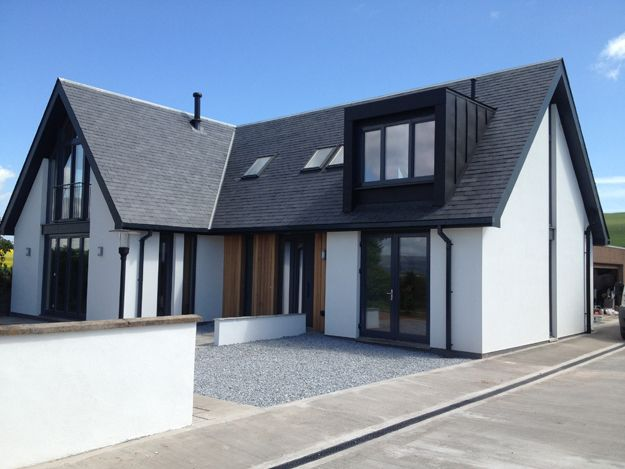 Fantastic looking #eco house in Laurencekirk by #Glasgow's AXN Architecture