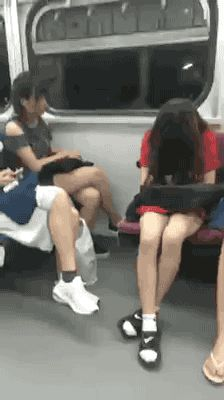 Share this Girl sitting on the bus asleep and falls Animated GIF with everyone…