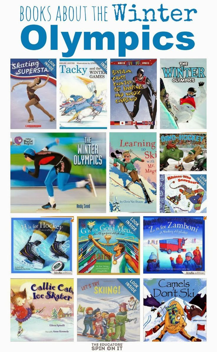 Children's Picture books about the Winter Olympics #olympics #winterolympics #eduspin #kids