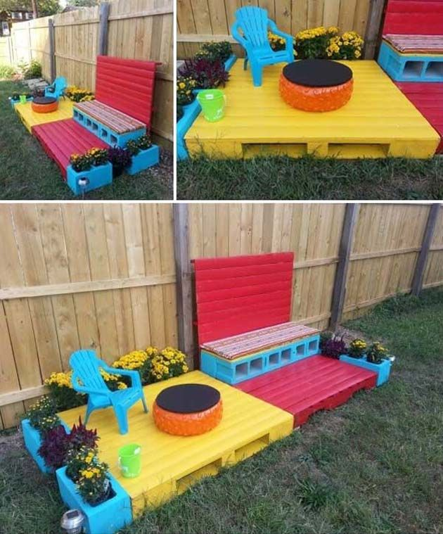 17 Cute Upcycled Pallet Projects For Kids Outdoor Fun Diy Spielplatz Palette Kinder Diy Hinterhof