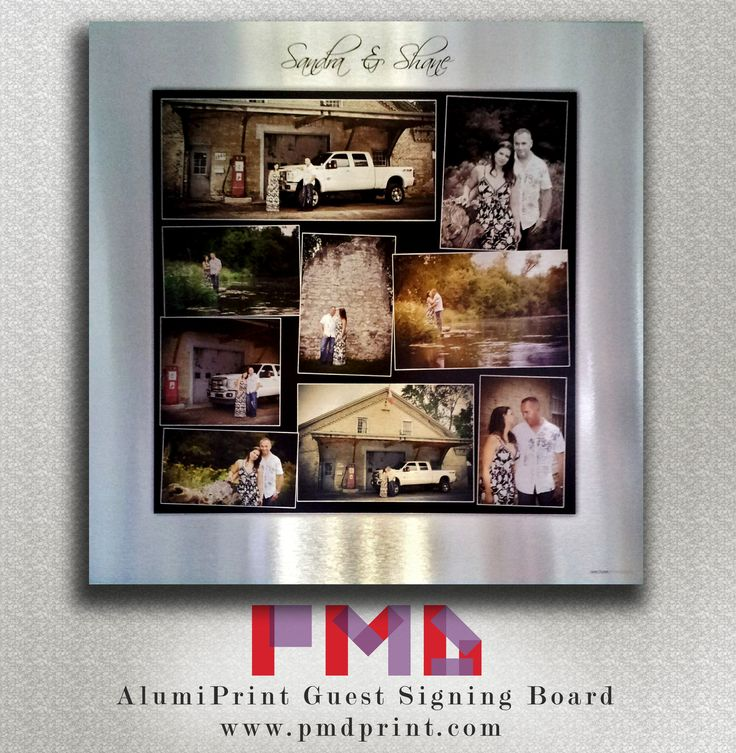 printing on aluminium! A great idea for a guest signing board at a wedding! #photomediadecor