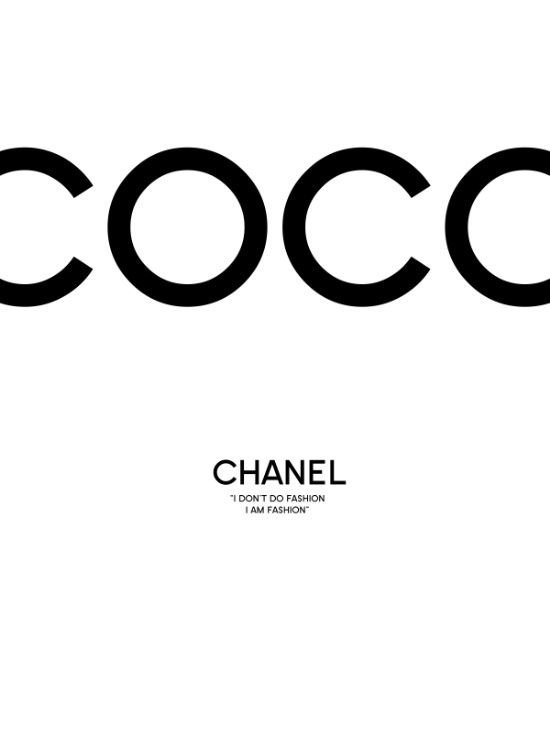 Chanel Art Print, coco chanel print, scandinavian wall art, monochrome wall art…