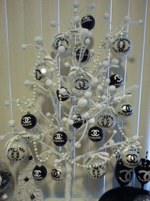 Chanel Christmas Tree H O L I D A Y D E C O R Xmas