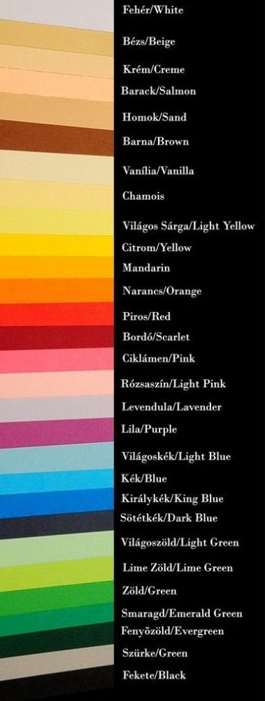 Multicolor színes karton 230g 70cm x 100cm - Panton