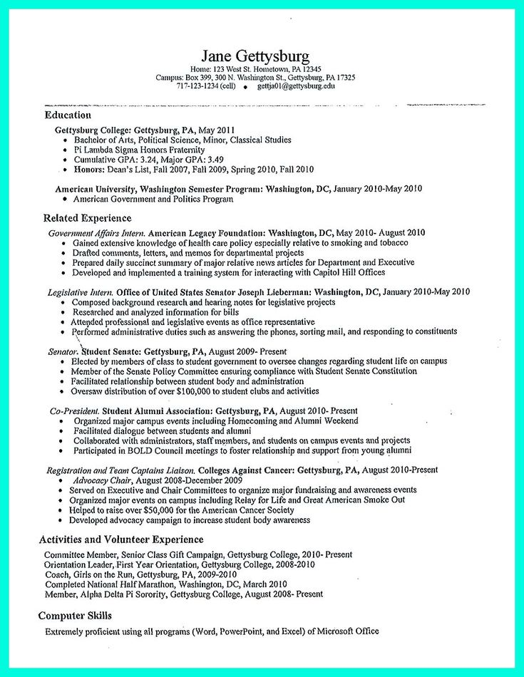 Best 25+ College resume template ideas on Pinterest Office - good resume examples high school students