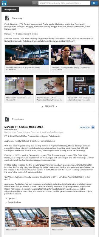 Gelungenes #LinkedIn Profil Portfolio von @ideentraeger  Anett Gläsel-Maslov
