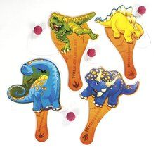 Dinosaur Party Paddleball Party Favors (4 ct)