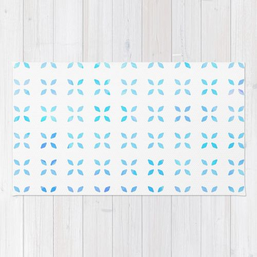 Blue diamond pattern Rug by Kokos Patterns | Society6
