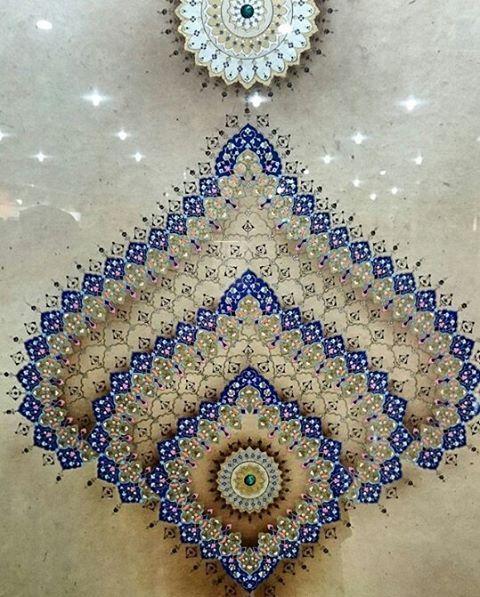 """167 Likes, 7 Comments - İslam & Sanat (@islamsanat) on Instagram: """"Tezhib: Zehra Artuç 18. Devlet Türk Süsleme Sanatları Yarışmasında ödül aldığı eseridir. Fotoğraf…"""""""
