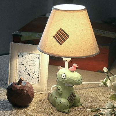 Dinosaur Fashion Creative Lamp Bedroom Warm Pastoral Lovely Children's Bedside Lamp Cartoon Table Lamp