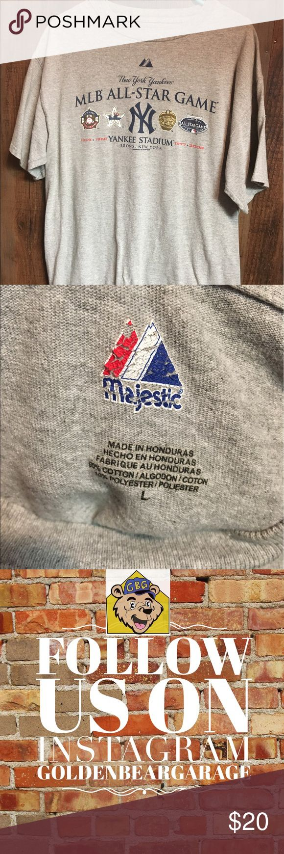 Vintage New York Yankees MLB All Star Game Tee Gently worn Majestic 2008 MLB All Star Game Teeshirt. This shirt commemorates the last All Star Game played in Old Yankee Stadium. Can be worn as Men's Large or Women's XL. Majestic Shirts Tees - Short Sleeve