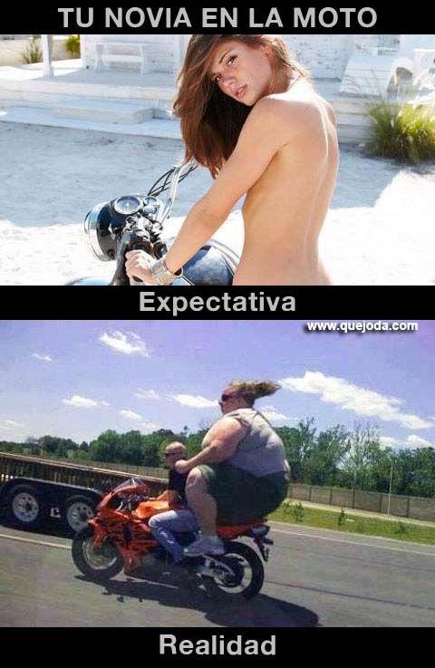 tu novia en la moto expectativa vs realidad - quejoda