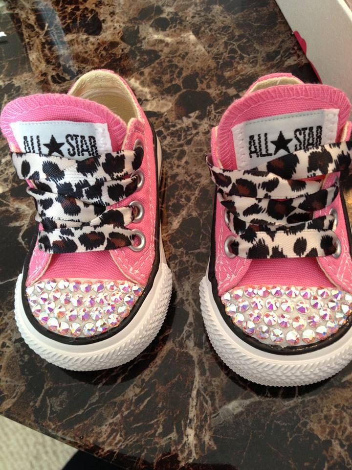Swarovski Crystal Converse Sneakers by Glitzy0207 on Etsy, $60