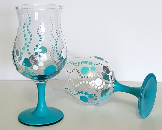 225 best total food junkie images on pinterest low carb for Hand painted drinking glasses