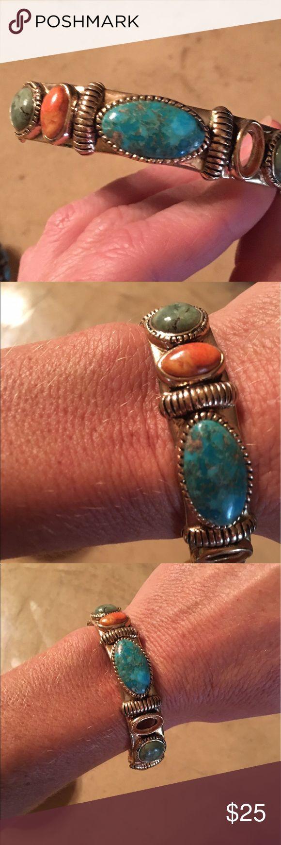Studio Barse Gold Bracelet Studio Bars Bracelet, coral, turquoise, green real stones! The designer has beautiful jewelry!! So sad that I lost a stone! I can be hard on my jewelry! Studio Barse Jewelry Bracelets
