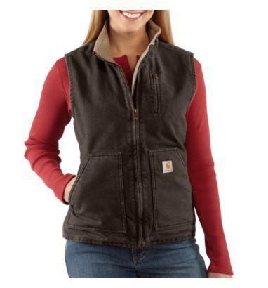 Carhartt - Product - Women's Sandstone Mock-Neck Vest/Sherpa-Lined